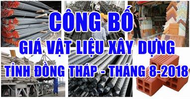 Giá vật liệu xây dựng Đồng Tháp tháng 8-2018