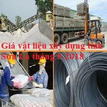 Giá vật liệu xây dựng tỉnh Sơn La tháng 9-2018
