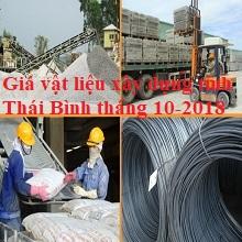 Giá vật liệu xây dựng tỉnh Thái Bình tháng 10-2018