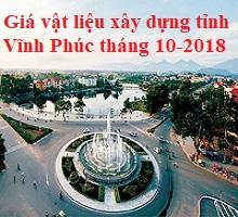 Giá vật liệu xây dựng tỉnh Vĩnh Phúc tháng 10-2018