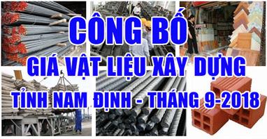 Giá vật liệu xây dựng tỉnh Nam Định tháng 9-2018