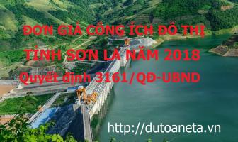 Đơn giá dịch vụ công ích đô thị Sơn La